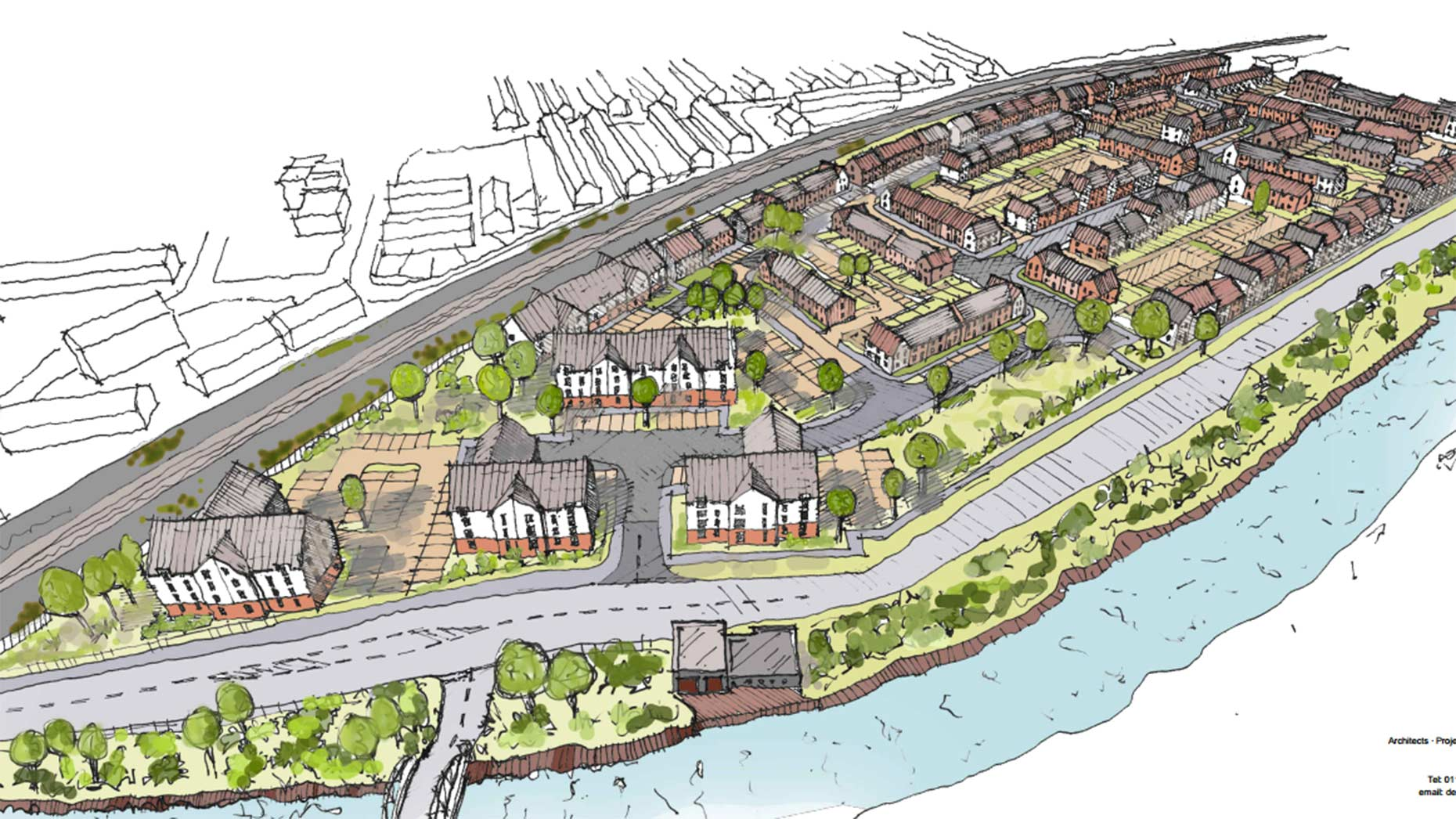 Designs for the proposed new development. Photo: RGP
