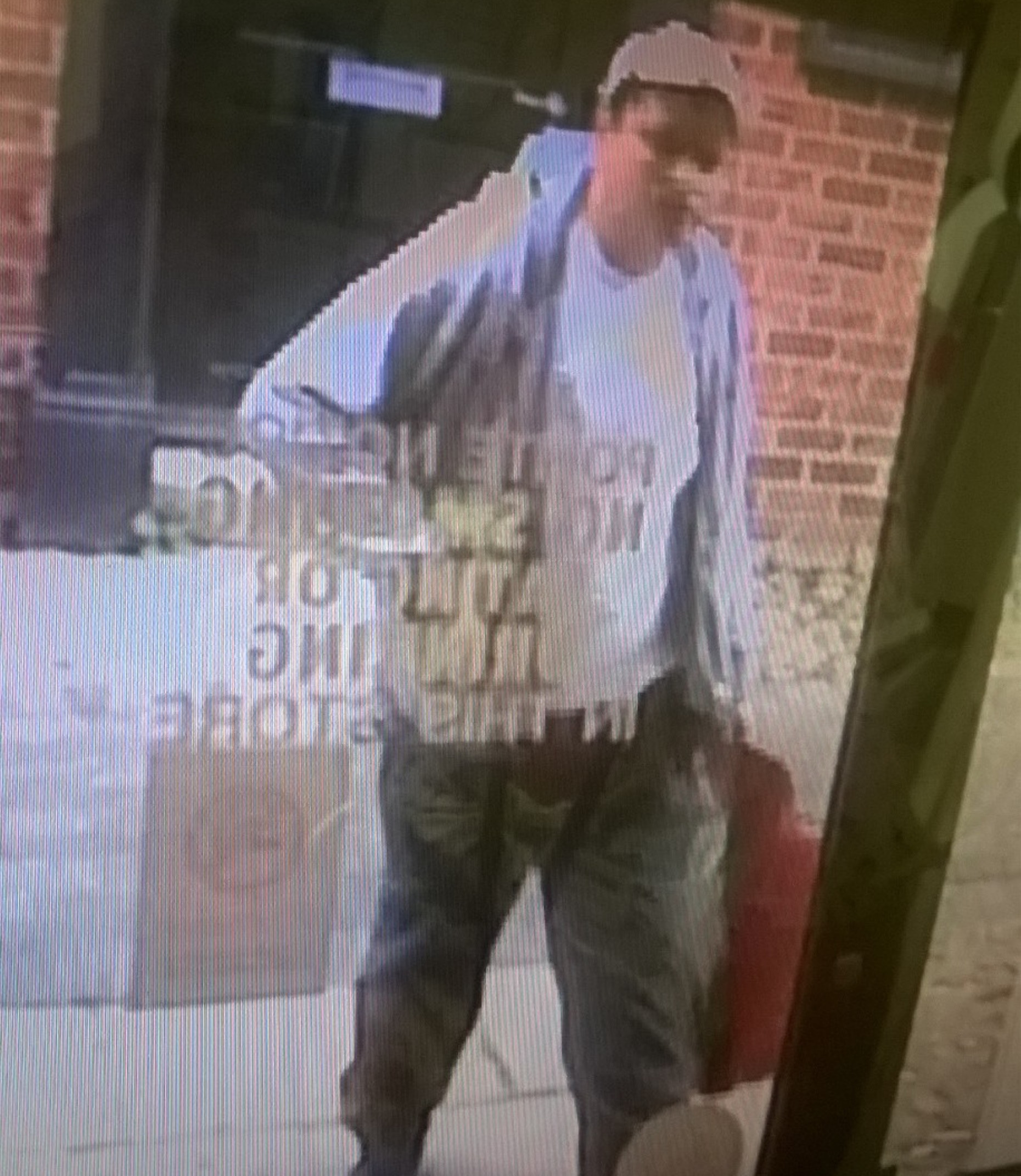 Police would like to speak with this man in connection with an alleged theft.