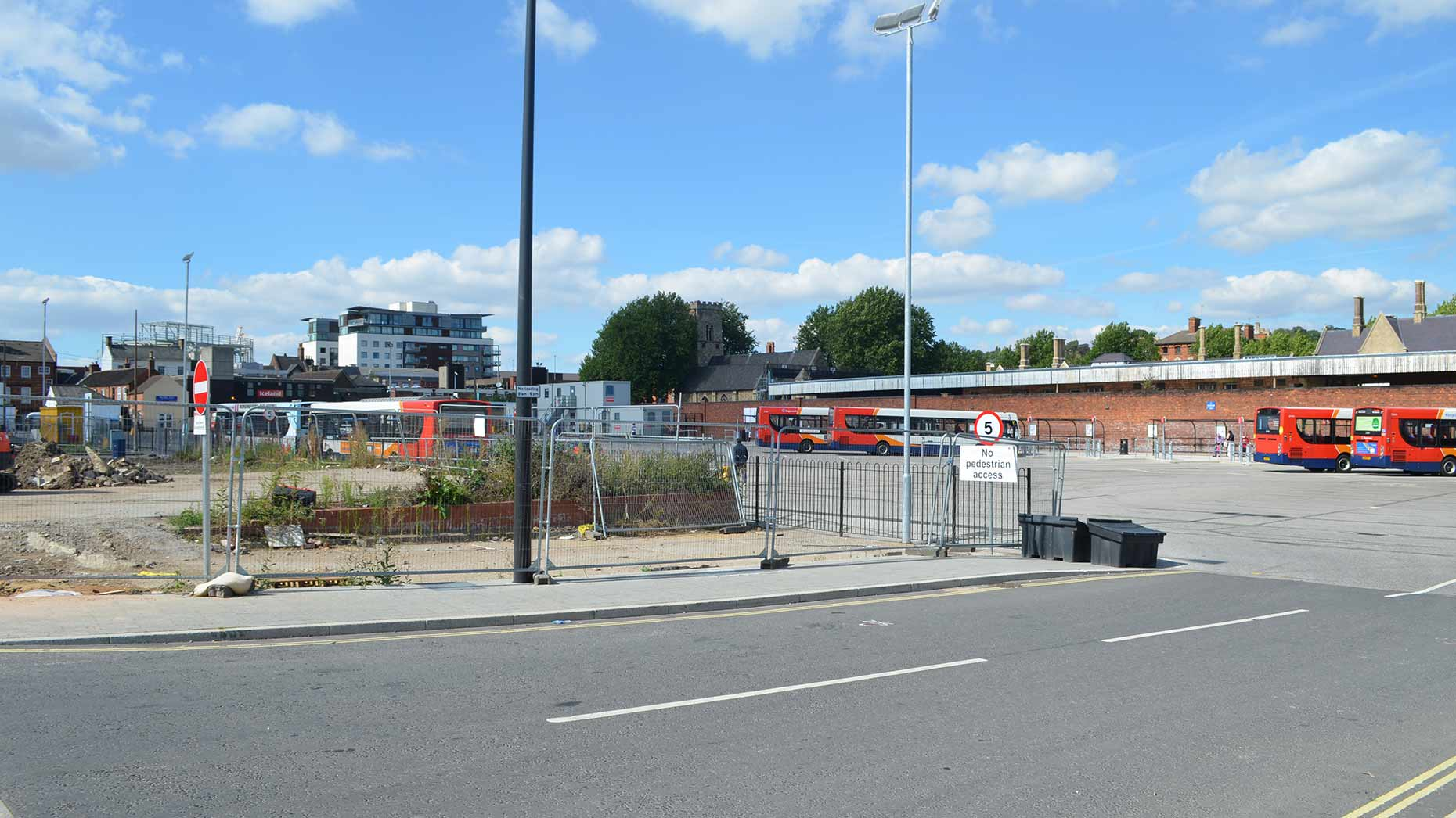 The temporary bus station is located on Tentercroft Street. Photo: Sophie Bee