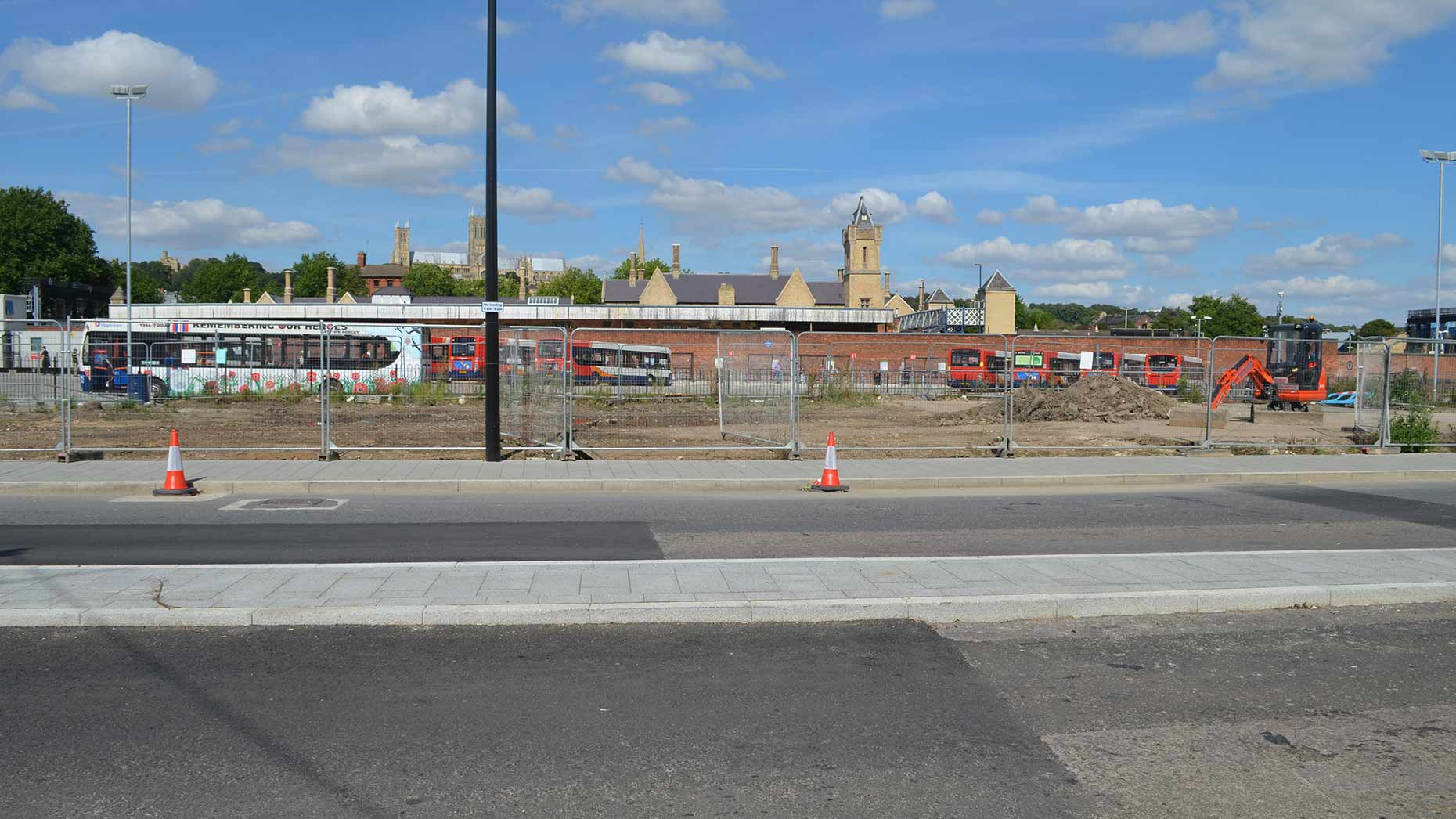 The temporary bus station will be used for 18 months while the new transport hub is being built. Photo: Sophie Bee