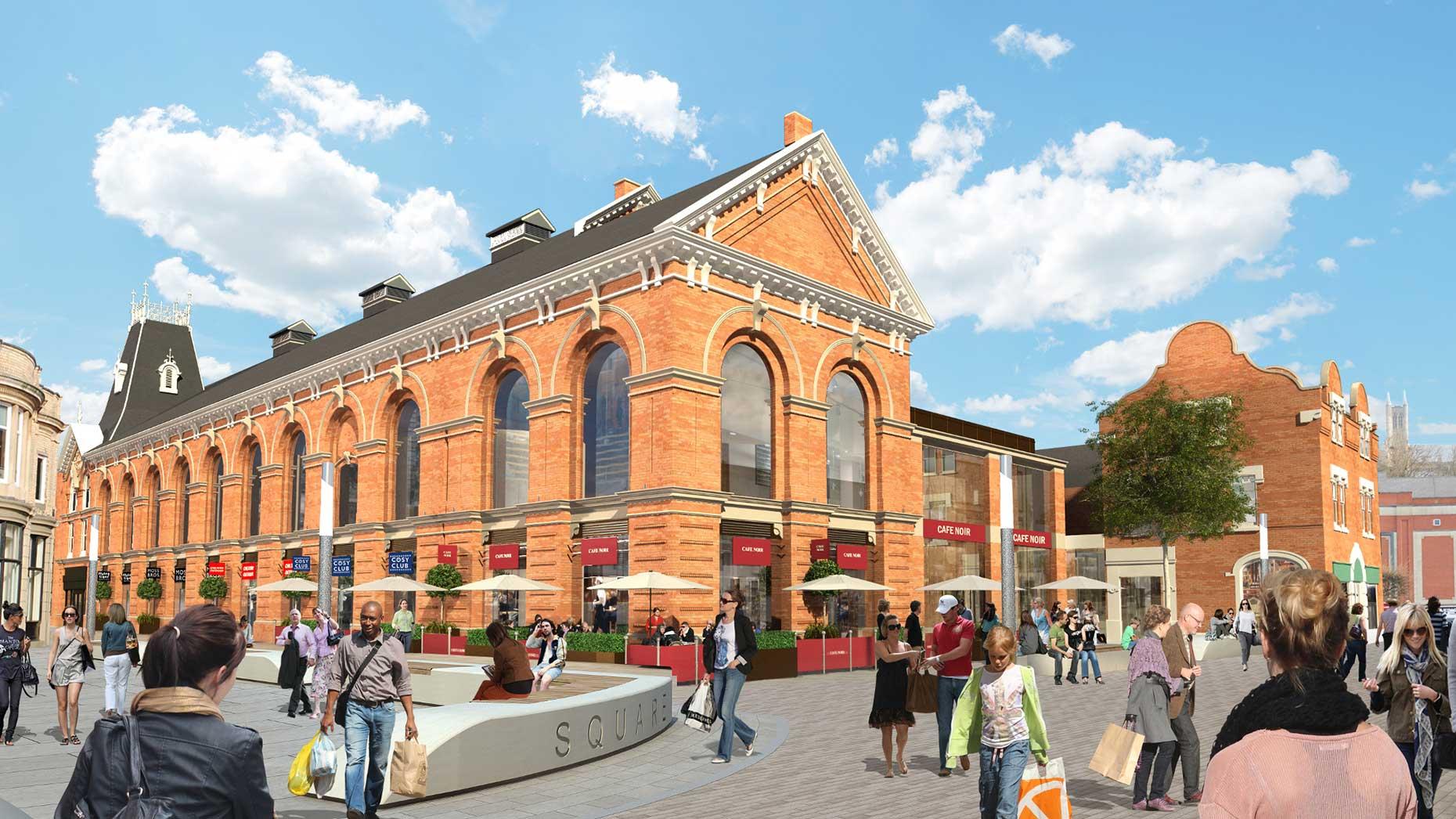 Artist impression of the new look Cornhill Quarter