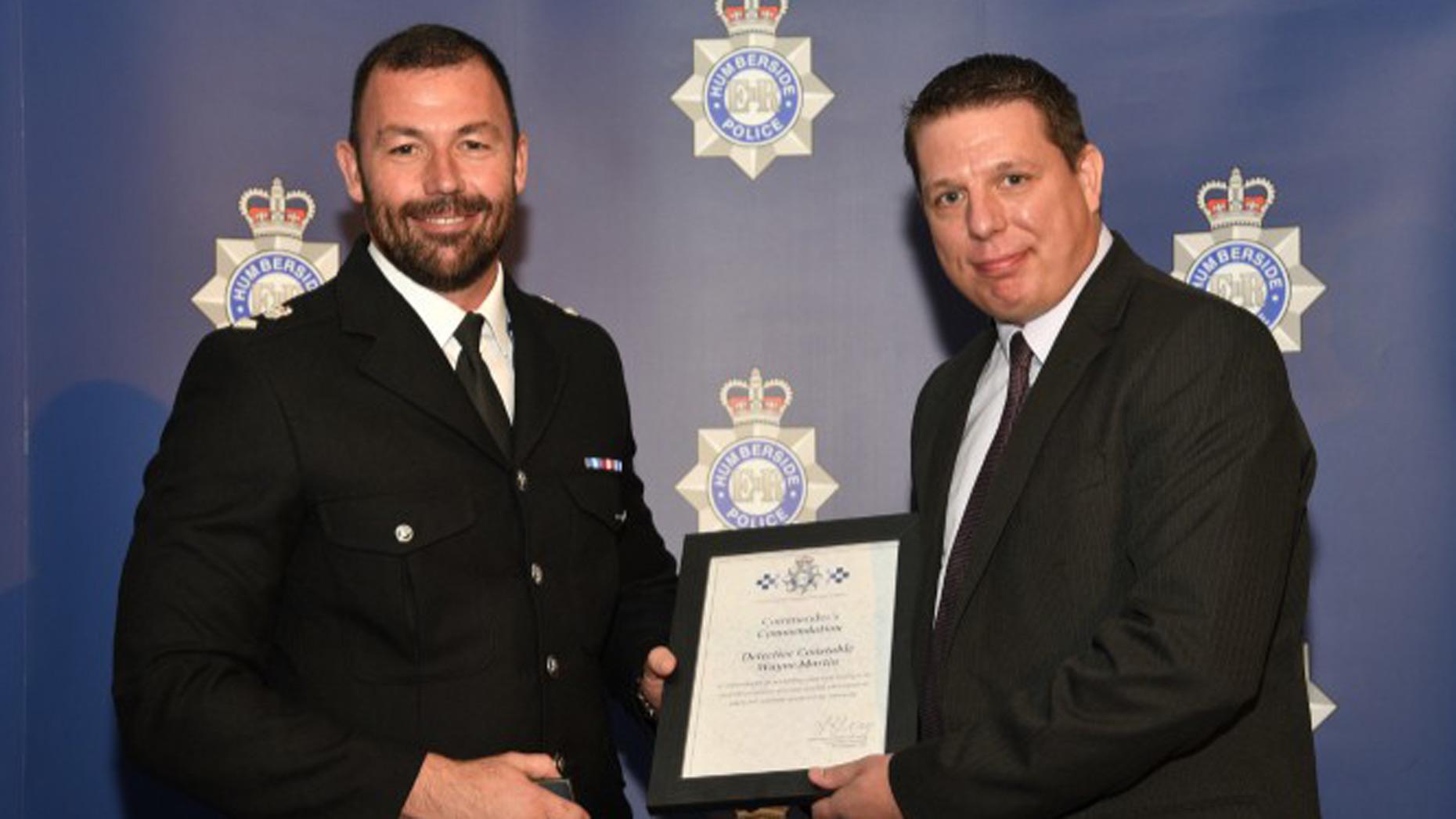 DC Wayne Martin from Grimsby also won an award
