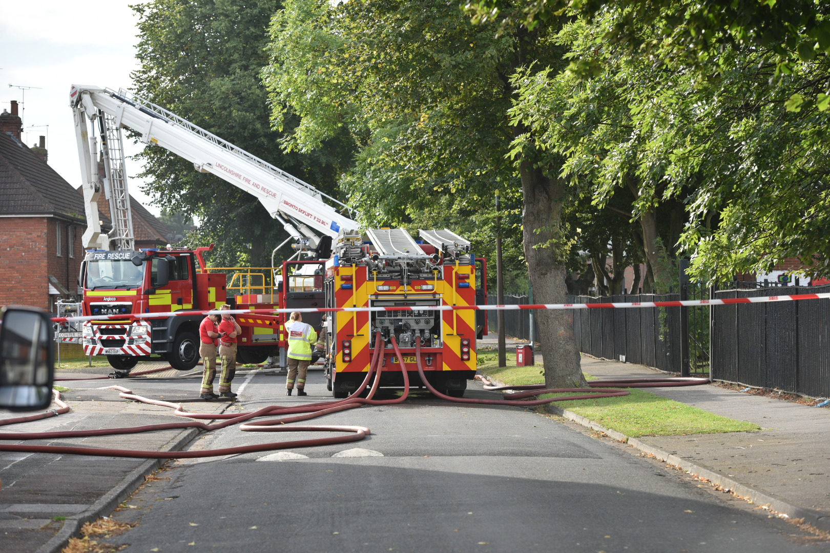 The deliberate fire in Lincoln took place on Friday, September 2. Photo: Steve Smailes for Lincolnshire Reporter