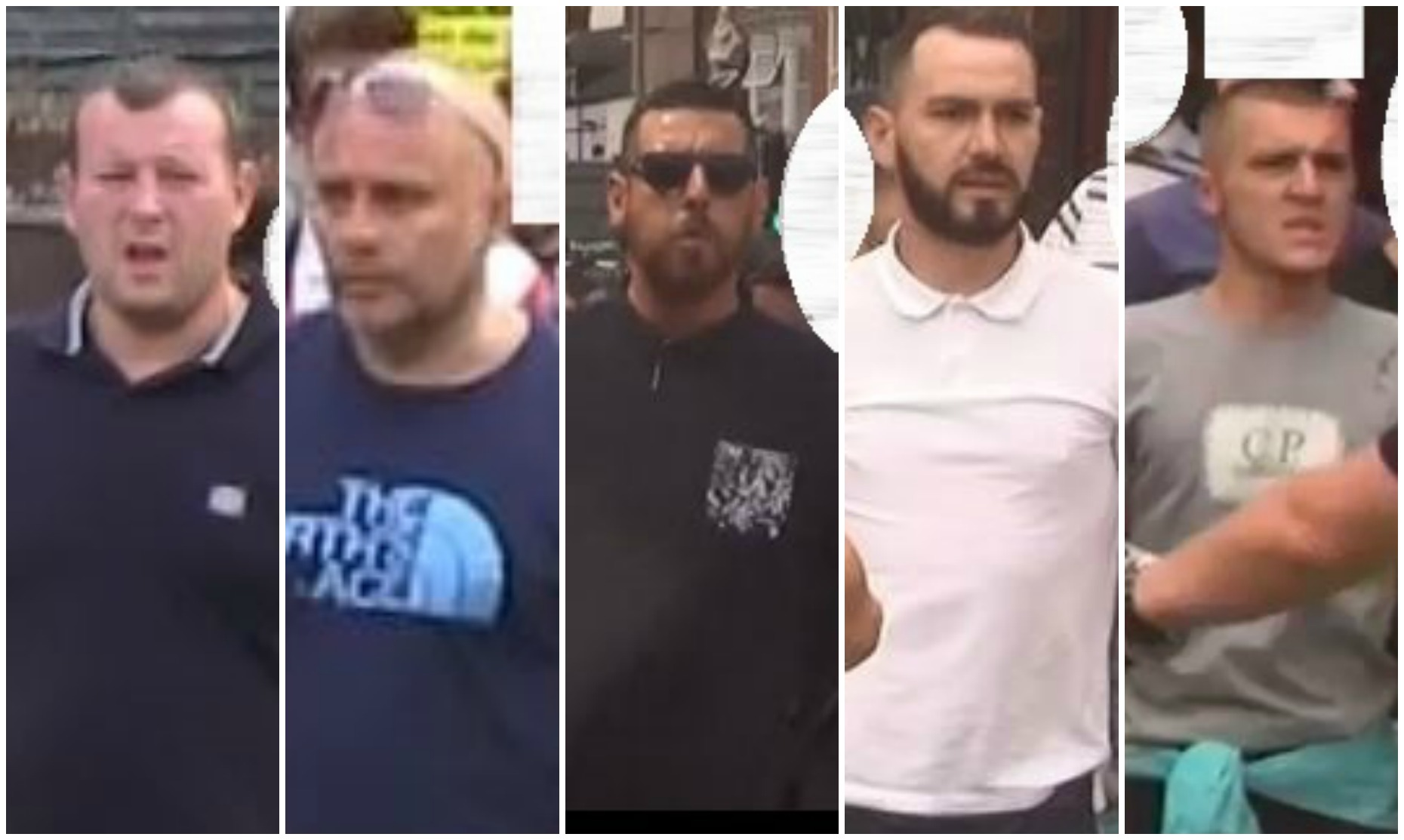 Do you recognise any of the men pictured? Call 101.