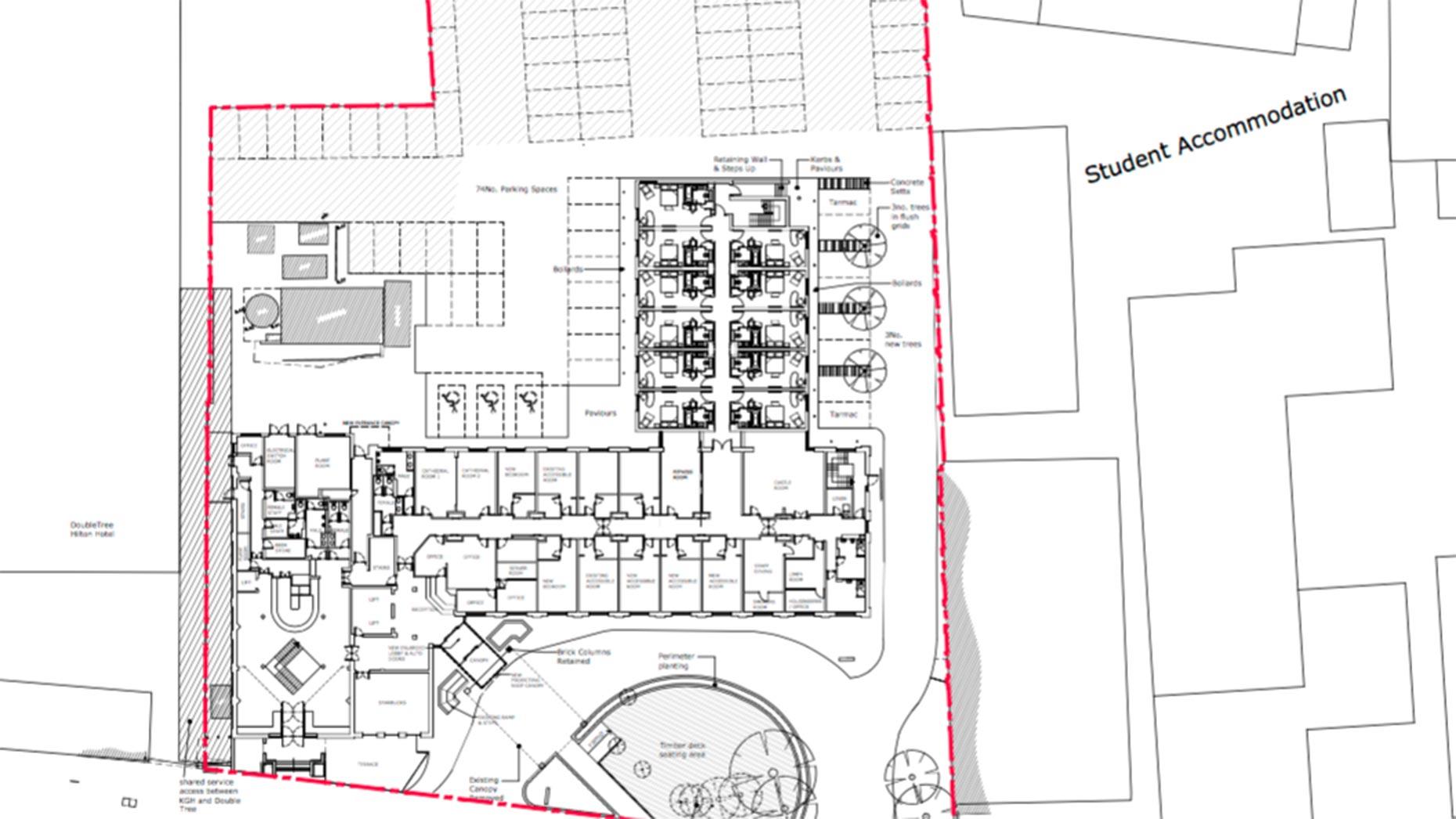 Holiday Inn site plan