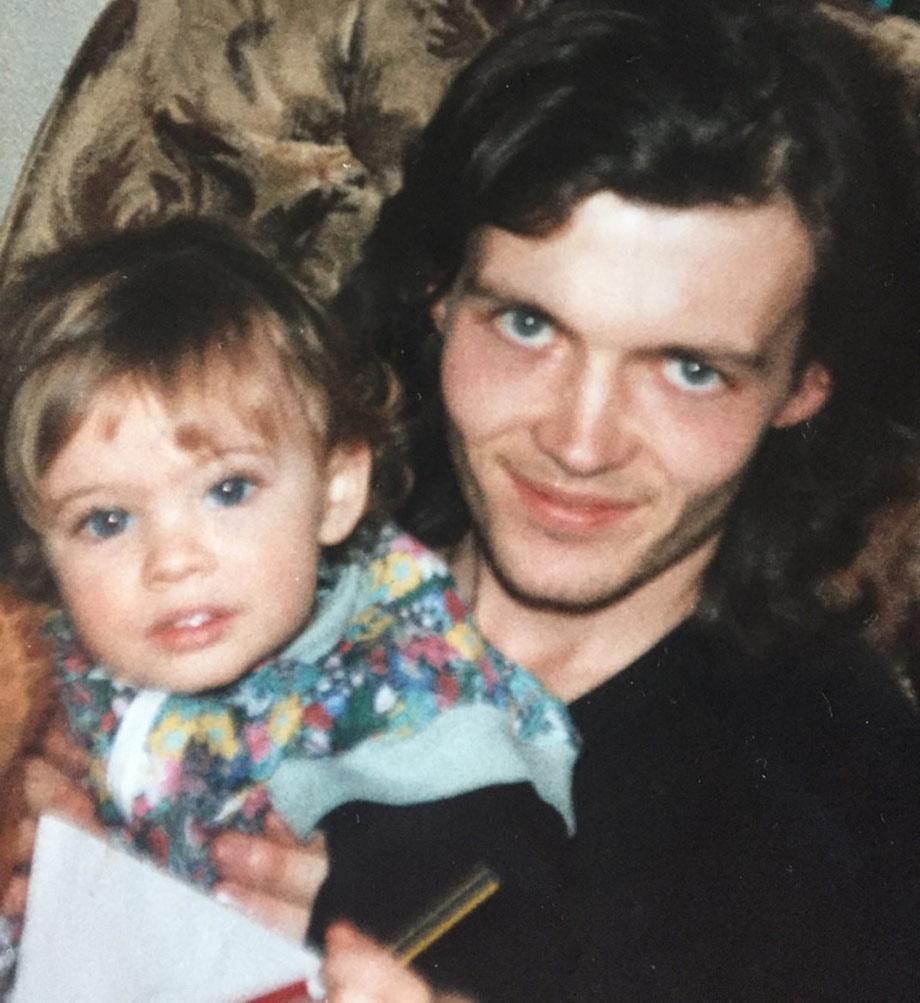 Elisha with her uncle, who she said she 'loved like a brother'.
