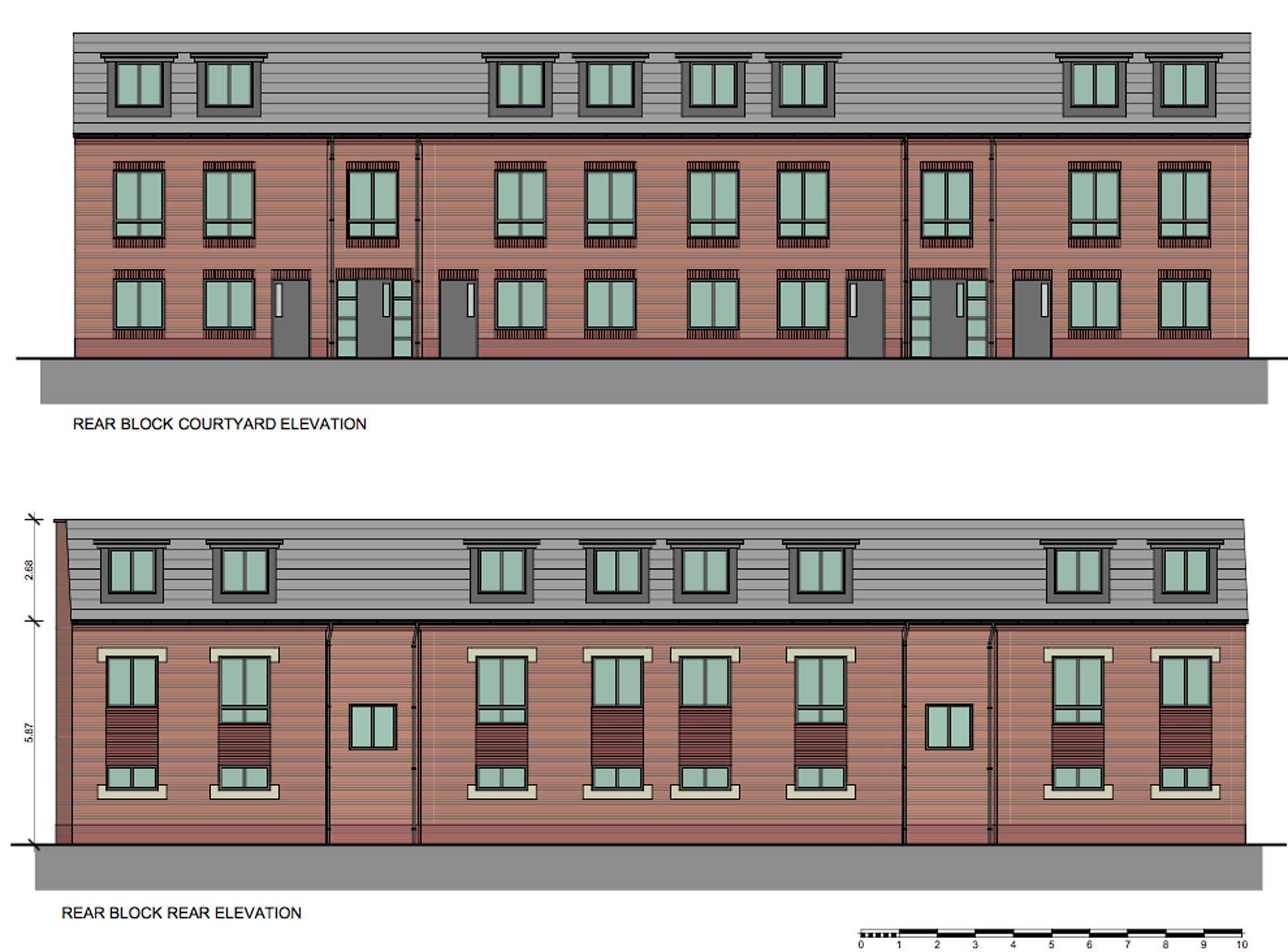 Designs for new Portland Street flats.