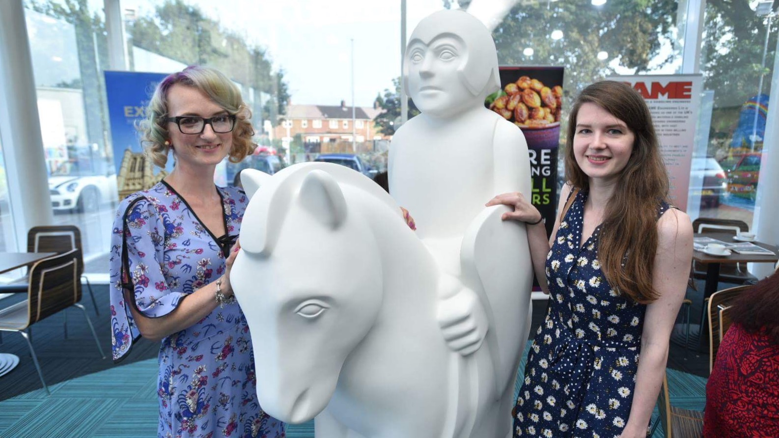 Left, Joanne Botterill and Rosie Ablewhite both hope to paint one of the Lincoln Knights. Photo: Steve Smailes for The Lincolnite.