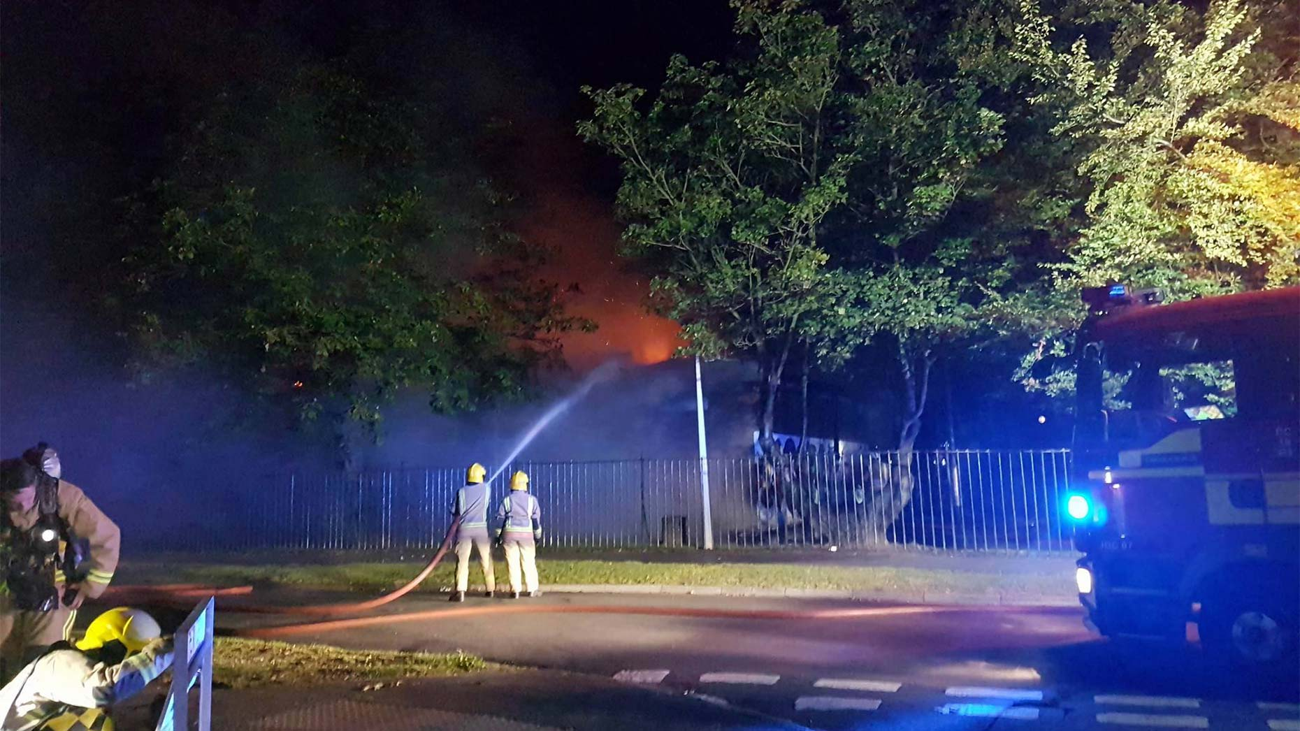 The fire started at around 10pm on Friday. Photo: Ian Betton