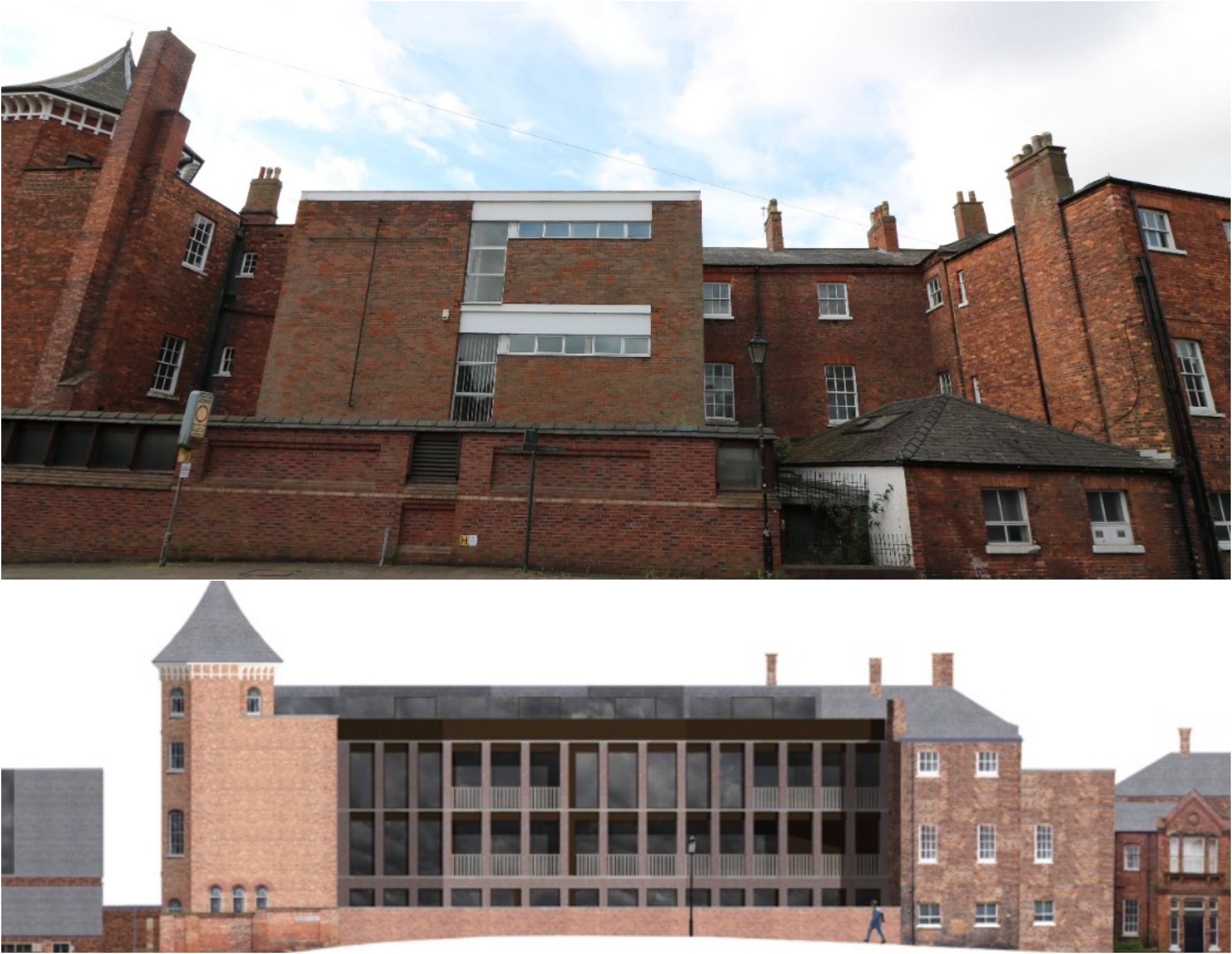 Designs for Chad Varah House. Current facade above with design proposal below: Jonathan Hendry Architects Ltd