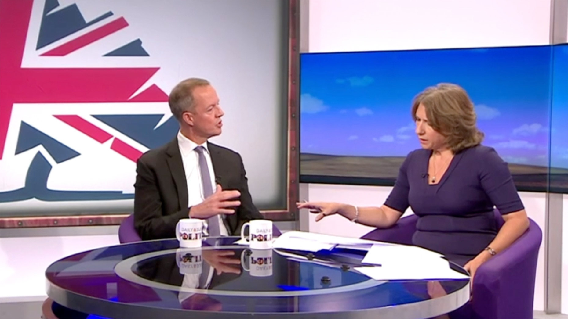 Boles was unhappy at some of the questions being asked. Photo: BBC