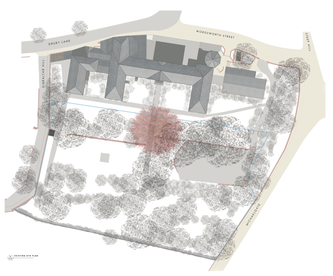 The site was originally constructed as the county hospital. Image Jonathan Hendry Architects Ltd