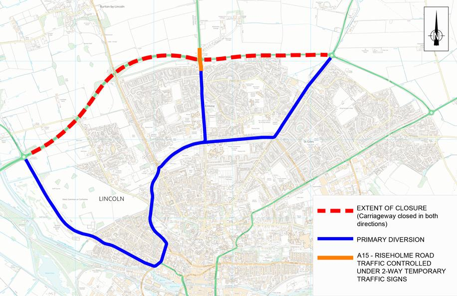 Diversions will be in place during the works on the A46