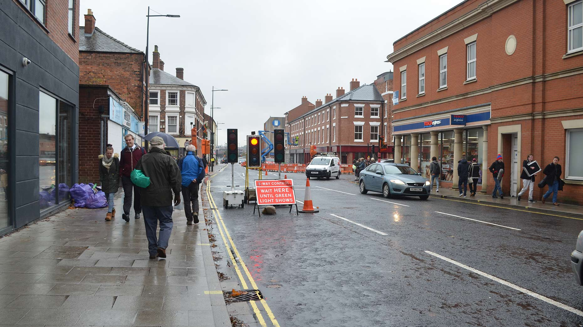 Temporary traffic lights and works will be gone by next week. Photo: Emily Norton