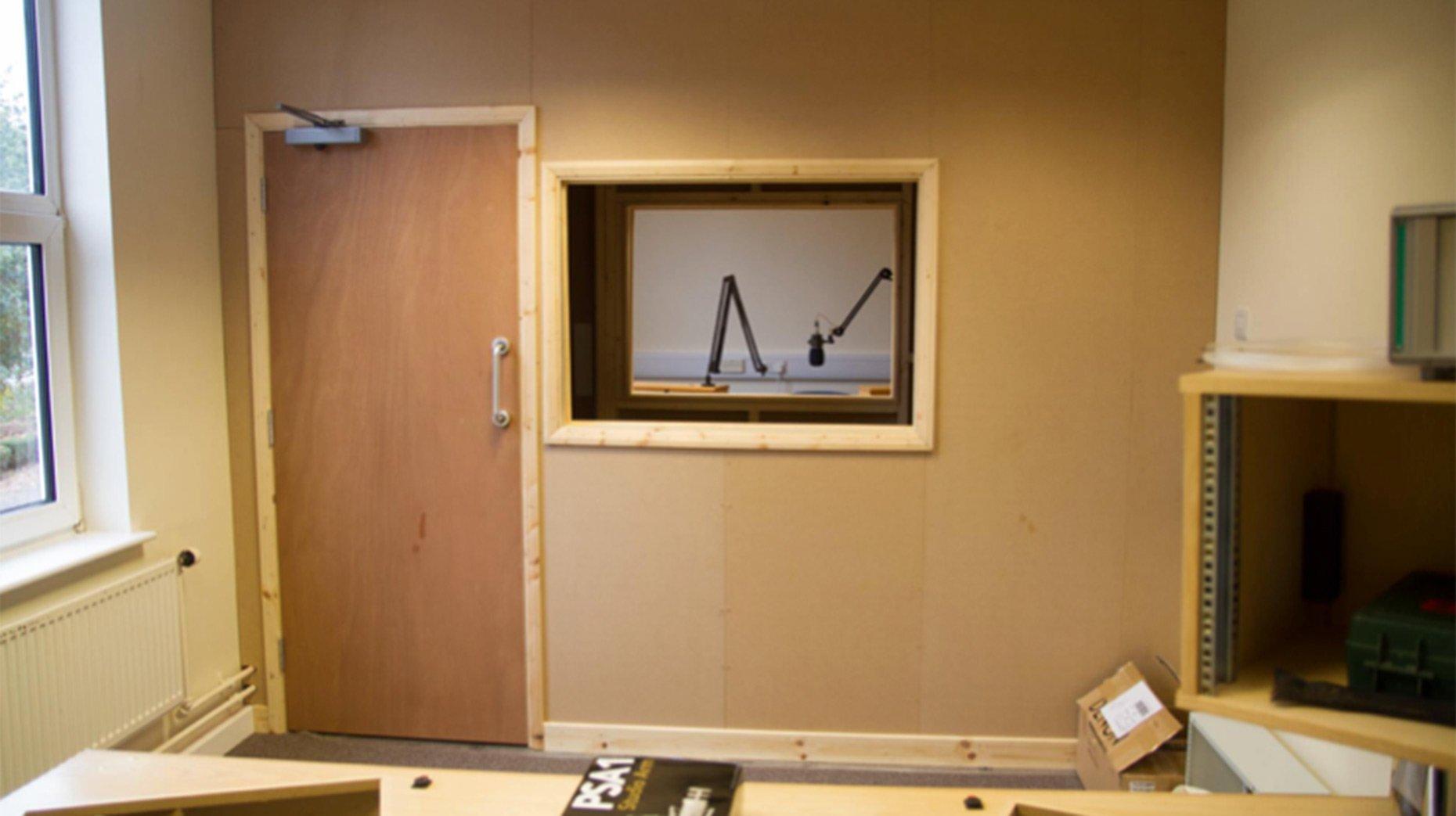 Lincoln City Radio Studio Two under construction