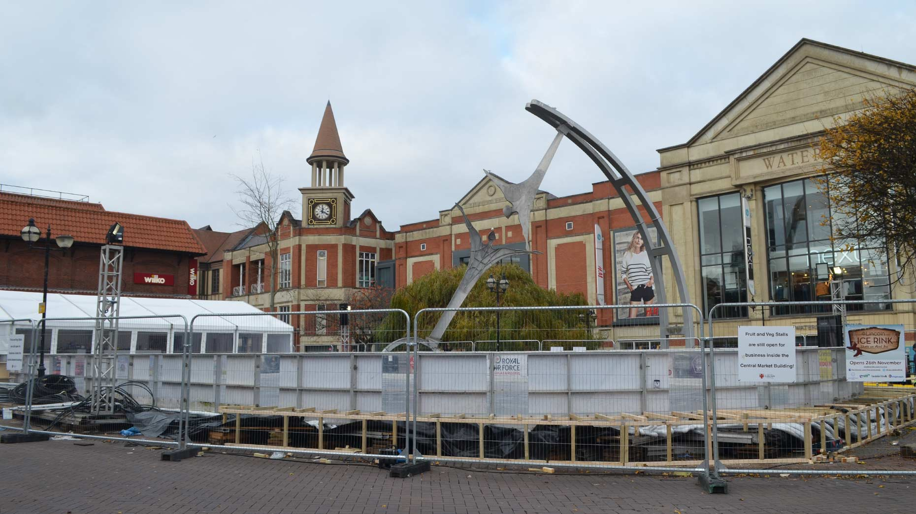 Two Days To Go Lincoln Ice Rink Almost Ready For Grand