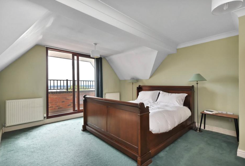 The heights of the home overlook the city rooftops. Photo: Humberts