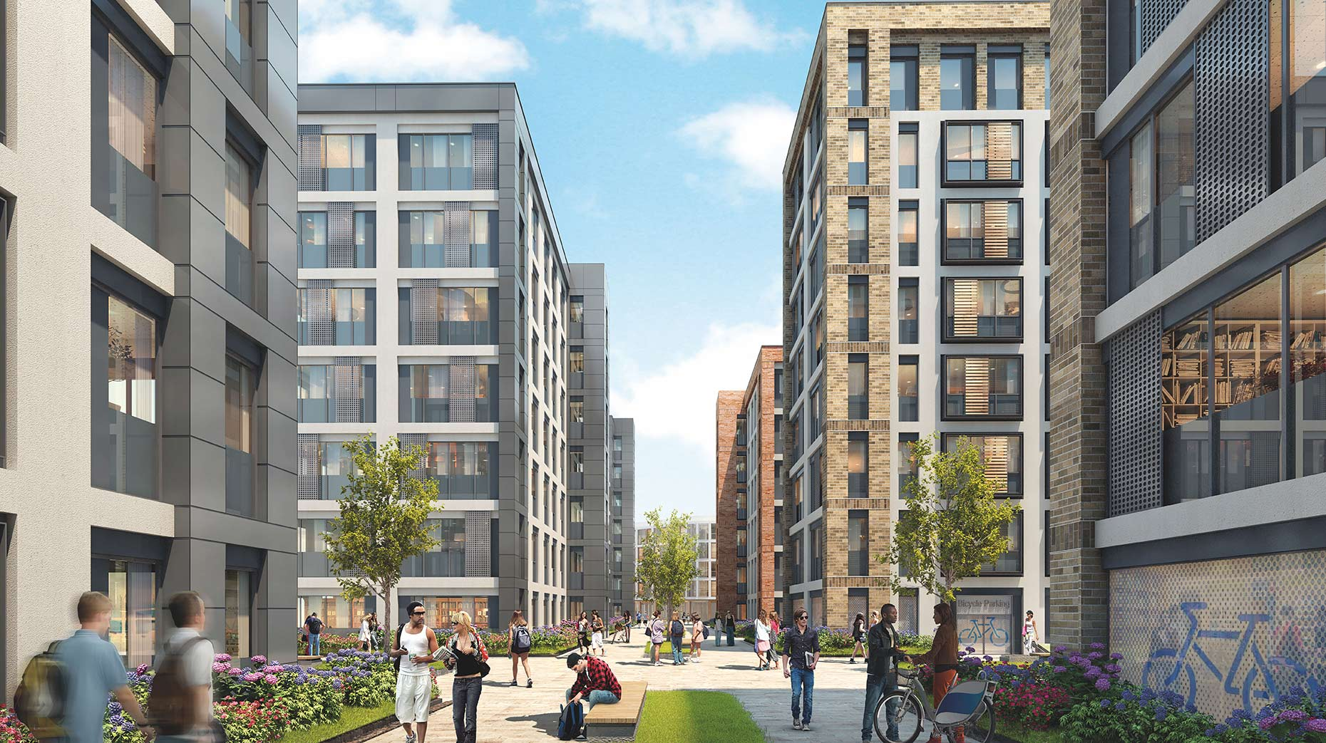The proposed St Marks student boulevard.