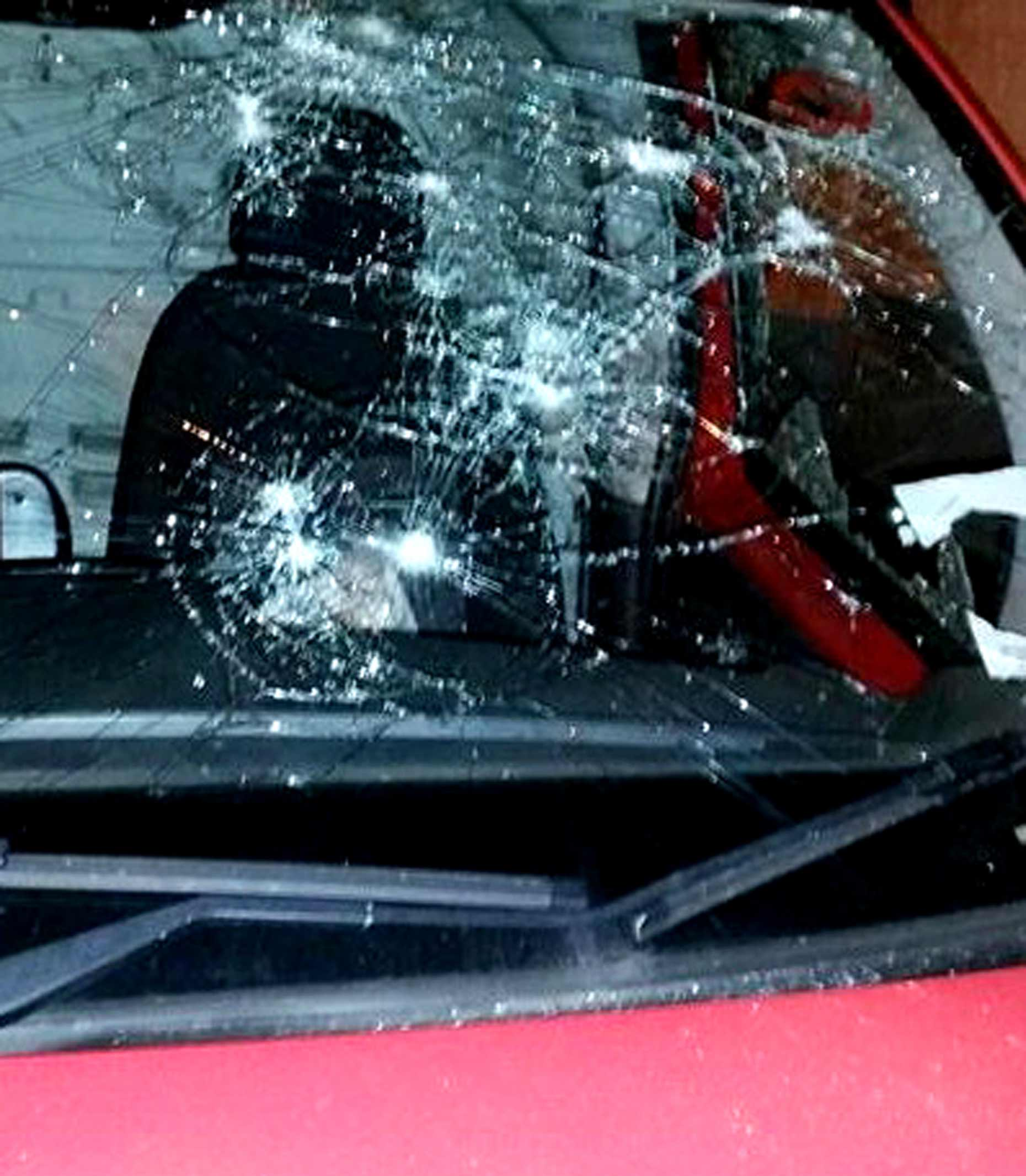 The Royal Mail van was attacked during the incident.