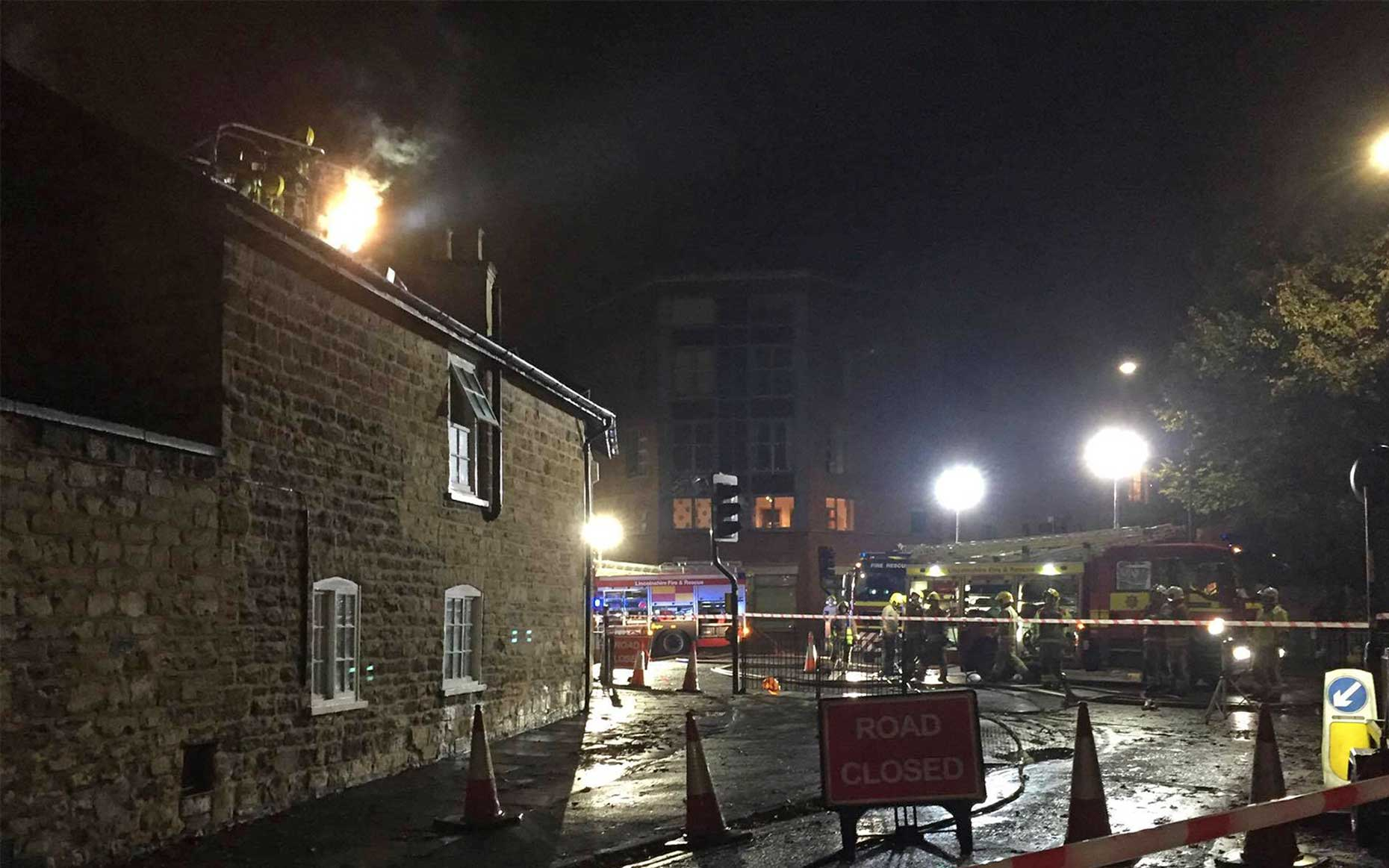 Six crews attended the blaze shortly after 10pm on Monday, November 14.