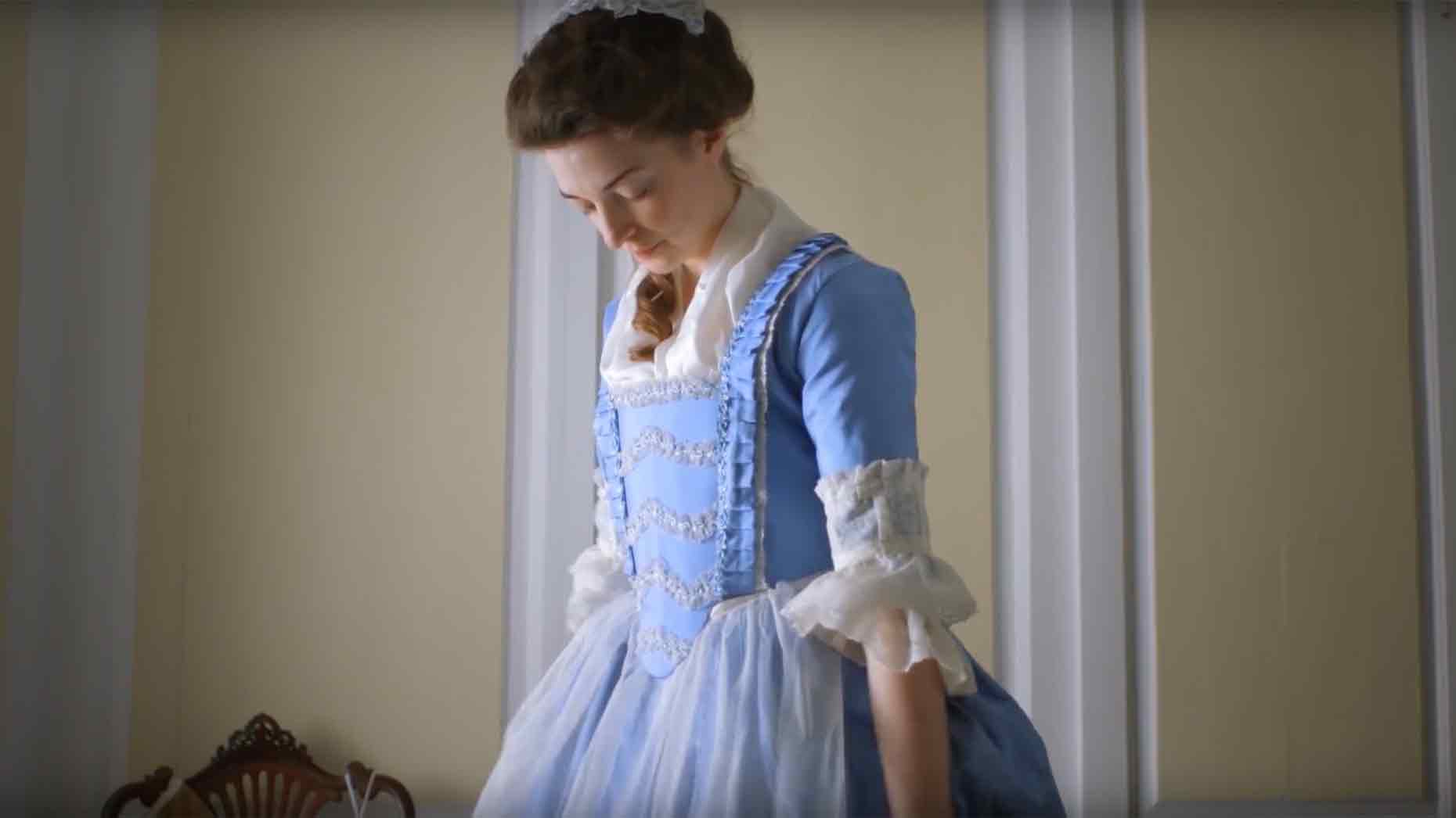 lincoln producers video of 18th century woman getting
