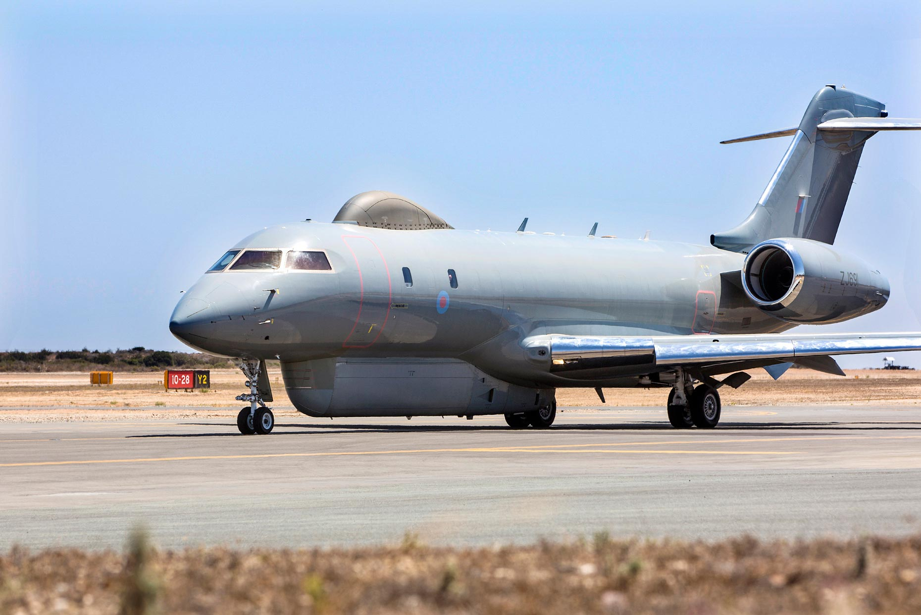 Sentinel aircraft returns to RAF Waddington from Middle East