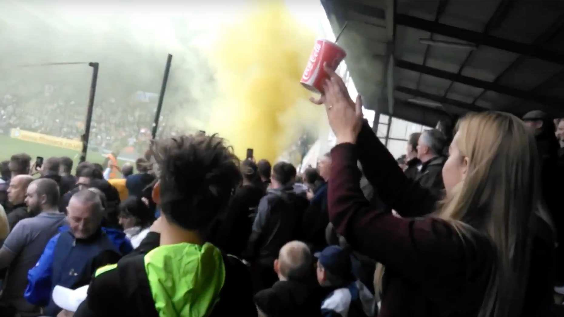 'Celebrity' Shrewsbury fans| | blue-and-amber